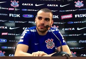 Bruno Henrique Corinthians coletiva (Foto: Diogo Venturelli)