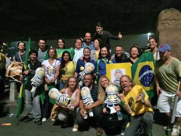 Manifestantes protestam na Avenida Paulista (Foto: Paula Paiva Paulo/G1)