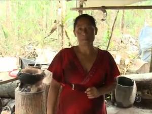 Cozinheira Francidalva Costa saiu do Brasil para tentar vida em garimpo (Foto: Reprodução/TV Amapá)