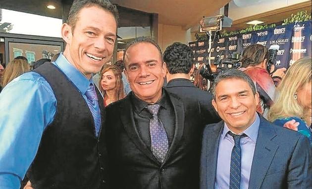 André Mattos com Christopher Showerman e Gerson Sanginitto (Foto: Arquivo pessoal)