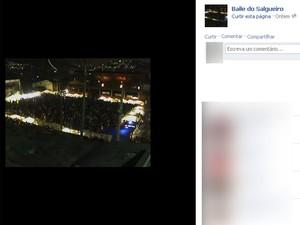 Página no Facebook chama para baile funk no Salgueiro (Foto: Reprodução/Facebook)