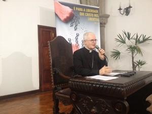 Dom Odilo lança Campanha da Fraternidade 2014 em SP (Foto: Márcio Pinho/G1)