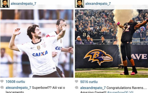 Alexandre Pato no Instagram (Foto: Reprodu&#231;&#227;o / Instagram)