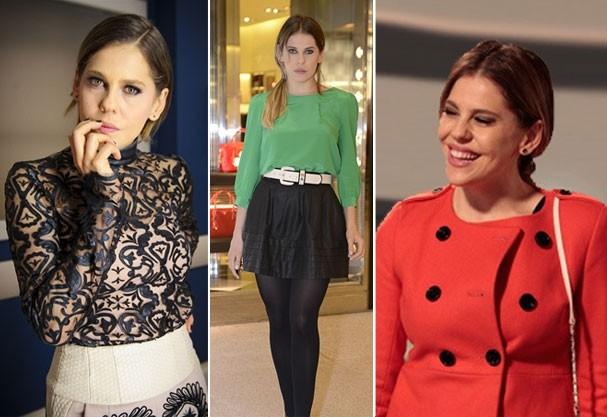 Os looks de Edith (Bárbara Paz) são clássicos com informação de moda  (Foto: Divulgação/TV Globo)