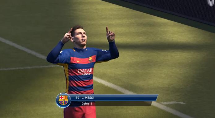 Messi é o melhor jogador do PES 2016 (Foto: Reprodução/Thiago Barros)