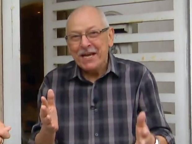 Orival Pessini durante entrevista para a TV Globo em 2015 (Foto: Reprodução/TV Globo)