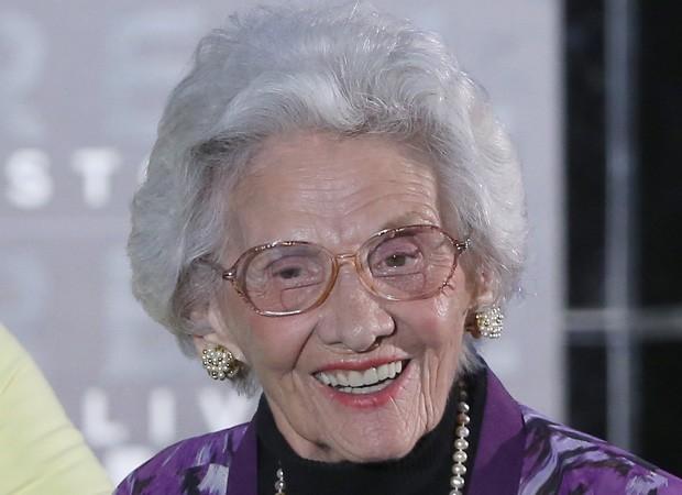 Connie Sawyer em 2012, aos 100 anos (Foto: Getty Images)