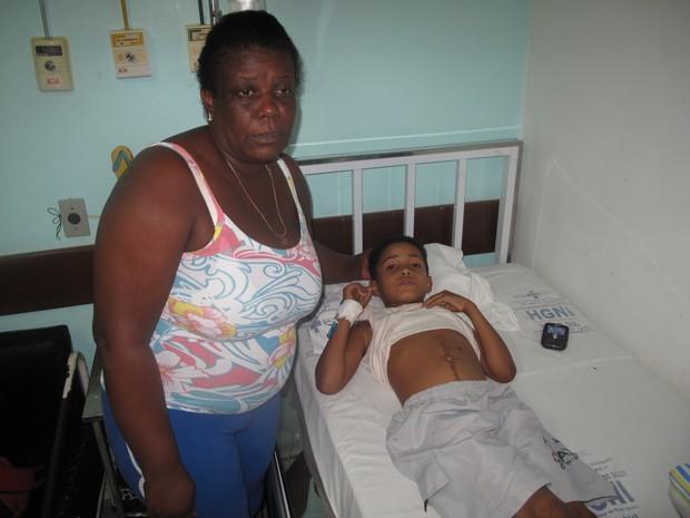 Ray está internado desde sexta-feira (24) no Hospital da Posse (Foto: Renata Soares/G1)