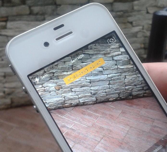 Modo de bloqueio de foco ativado no aplicativo de câmera do iOS (Foto: Marvin Costa/TechTudo)
