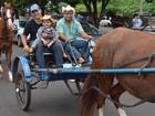 Veja fotos da cavalgada de abertura do Rodeio de Ribeirão Preto