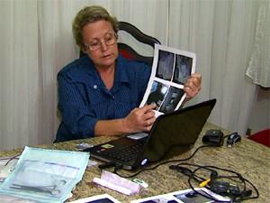 Enfermeira mostra fotos de supostas irregularidades em Centro Médico (Foto: Reprodução/EPTV)