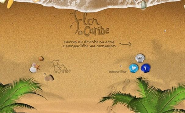 Escolha uma frase ou faça seu próprio desenho na areia (Foto: Divulgação / Reprodução)