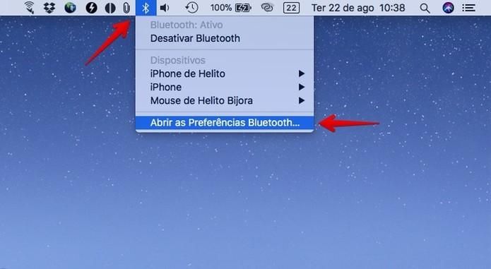 Acesse as configurações de bluetooth (Foto: Reprodução/Helito Bijora)