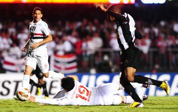 Penalti, São Paulo x Atlético-MG (Foto: Marcos Ribolli)