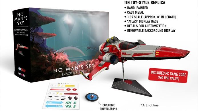 Rara versão No Mans Sky Explores Edition terá apenas 10 mil unidades e nave de metal (Foto: Reprodução/VG247)