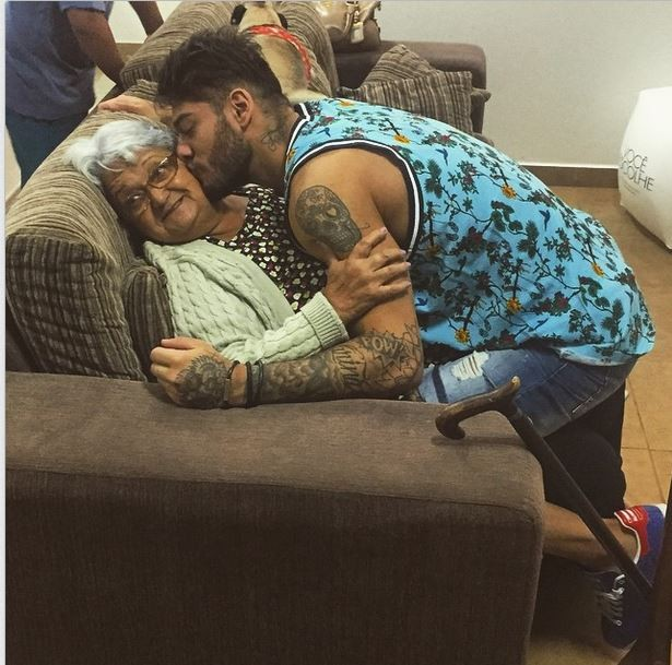 Lucas Lucco e avó (Foto: Instagram)