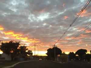 Céu de Campo Grande nesta terça-feira (24) (Foto: Gabriela Pavão/ G1 MS)
