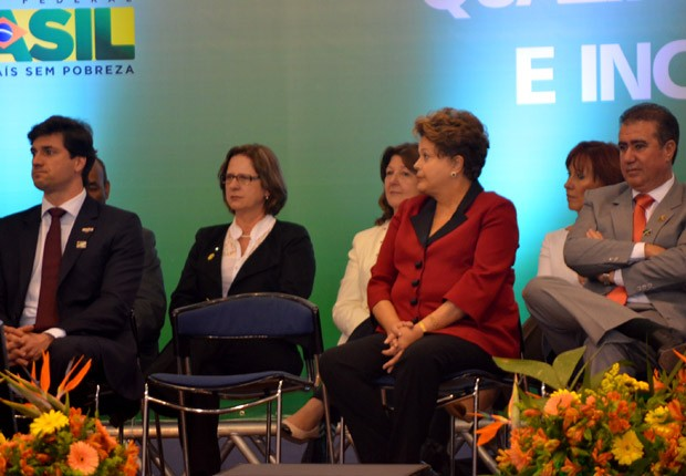 A presidente Dilma Roussef, durante visita a Campinas (SP) (Foto: Lana Torres/G1)