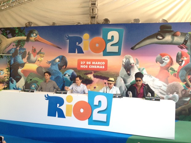 Coletiva do filme RIO 2 (Foto: EGO)