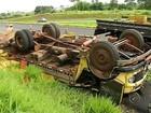Caminhoneiro morre após capotar veículo na rodovia Euclides da Cunha