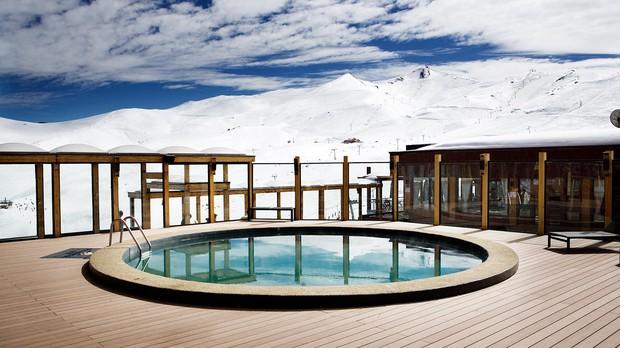 Piscina Aquecida no Valle Nevado (Foto: Foto Divulgao - Valle Nevado Ski Resort Chile)