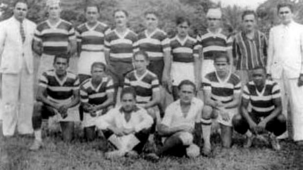 Time do Ferroviário que jogou o Campeonato Cearense de 1938 com Valdemar Caracas como técnico (Foto: Divulgação)