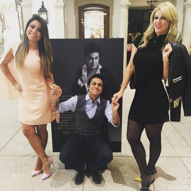 Andressa Ferreira, Thammy Miranda e Val Marchiori (Foto: Instagram / Reprodução)