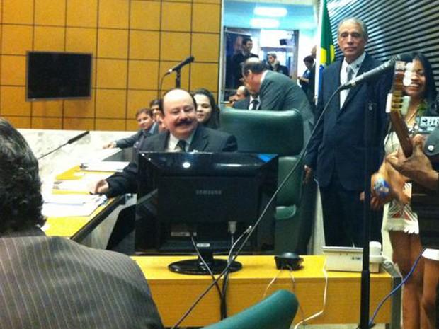 Levy FIdelix participou de convenção do PRTB que definiu seu nome para disputar as eleições de outubro (Foto: Vanessa Fajardo/G1)