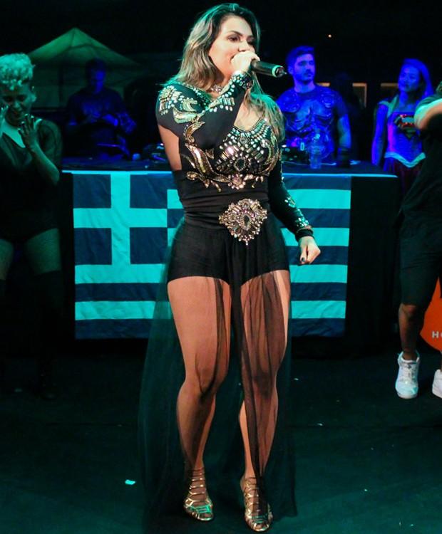 Kelly Key faz show em São Paulo (Foto: Rodrigo Sanchez/Brazil News)