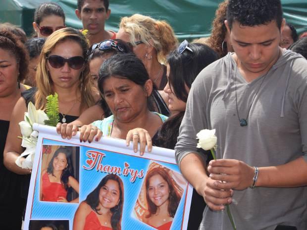 Família da vítima thamyris (Foto: Igor Mota/ Amazônia Jornal)
