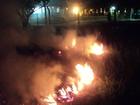 Homem é preso por incendiar vegetação em frente à PMA em MS