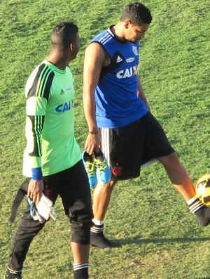 Andre Santos e Felipe Treino Flamengo (Foto: Richard Souza)
