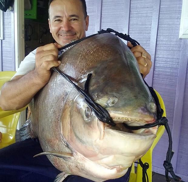 James Antônio exibe o maior peixe da vida dele (Foto: Arquivo pessoal/ James Antônio de Souza)