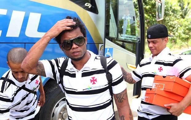 Carlos Alberto na chegada do time profissional do Vasco em Pinheiral (Foto: Marcelo Sadio / Site do Vasco)