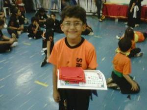 Kung Fu Baby Uberaba projeto crianças artes marciais Arthur Silveira (Foto: Hellen Silveira/ Divulgação)
