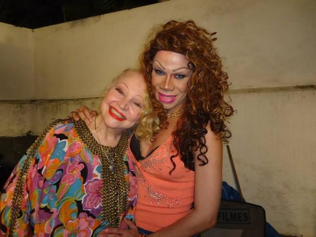 Elke Maravilha e Núbia Pinheiro (Foto: Arquivo Pessoal)