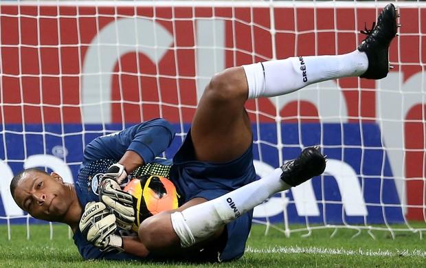 Dida defende pênalti contra o Corinthians (Foto: Wesley Santos / Press Digital)
