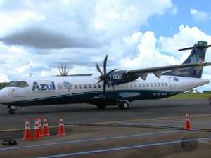 Voos da Azul terminam em dezembro em Araraquara (Foto: Reprodução/EPTV)