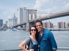 Tania Khalill e Jair Oliveira curtem viagem romântica a Nova York