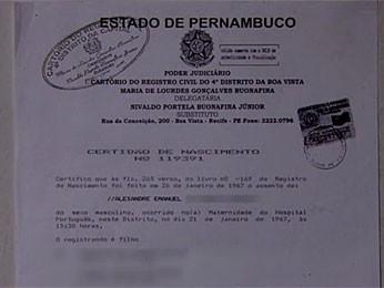 """Professor já registrado como """"Alexandre"""" (Foto: Reprodução / TV Globo Nordeste)"""