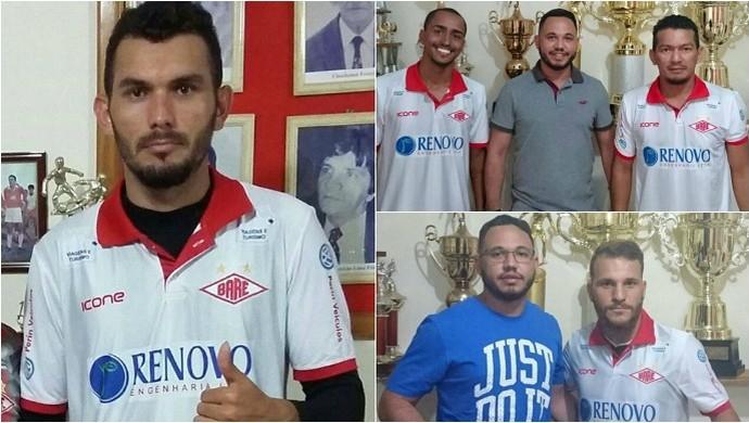Mais quatro reforços: Baré agora possui seis jogadores confirmados para o Roraimense 2017 (Foto: Divulgação/Baré E.C)