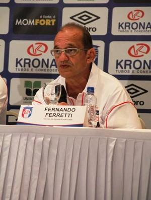 Fernando Ferreti técnico Krona Futsal Joinville (Foto: Manolo Quiróz/Divulgação)