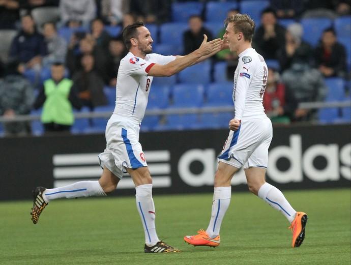 Tomas Sivokc e Borek Dockal gol República Tcheca (Foto: AP)