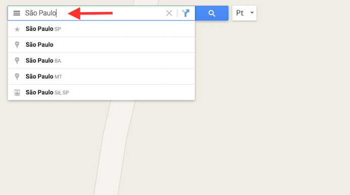 Buscando um local no Google Maps (Foto: Reprodução/Marvin Costa)