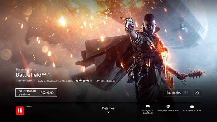 Adicione o Battlefield 1 ao seu carrinho (Foto: Reprodução/Murilo Molina)
