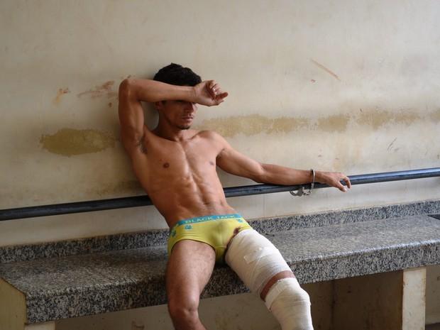 assaltante tiro perna acre  (Foto: Veriana Ribeiro/G1 )