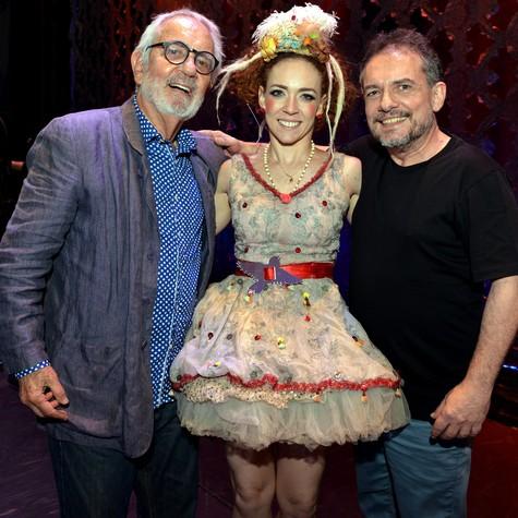 Paulo José, Laila Garin e João Falcão (Foto: Cristina Granato)