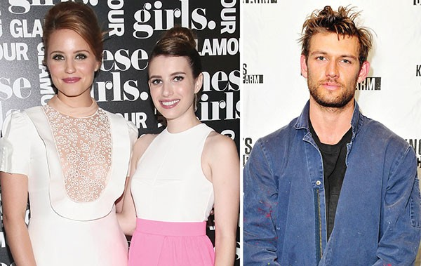 Dianna Agron, Emma Roberts e Alex Pettyfer (Foto: Getty Images)