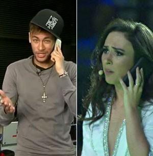 Neymar aparece no palco e promete gol para Tatá (Vem aí/TV Globo)