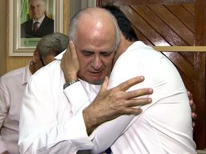 Presidente do partido se emocionou ao falar de Campos (Foto: Reprodução/TV Amazonas)